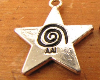 20 Star-shaped AAI Charms for making jewelry - Hard to Find!