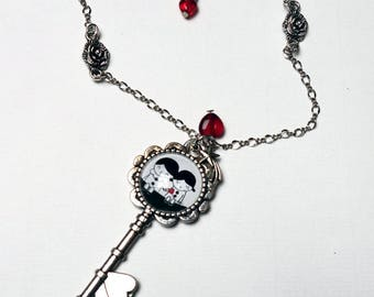 Key necklace, Star CCL002A lovers