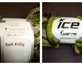 Ice Scarf Yarn/Green/Stash Busting / DeStash