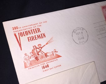 Volunteer Firemen First Day Issue Envelope
