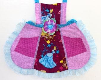 Cinderella Apron, toddler apron, girls apron