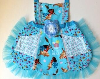 Moana  Apron, toddler apron, girls apron