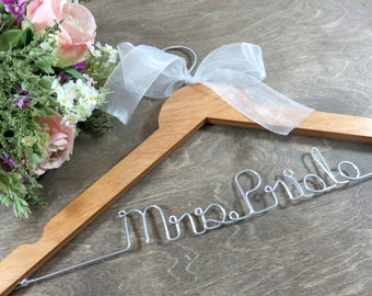 Name Hanger - Etsy Bridal Hangers - Bride Coat Hanger - Wedding Dress Hangers - Bridal Accessories - Personalized Hangers - Handmade Hanger