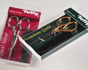 Tulip Scissors Royal Silver, Premium Gold, and Elegant Pink made in Italy