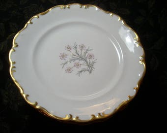 "Antique Set/7 Bread & Butter Plates 6"" SCHUMANN Germany ""GOLDEN GLOW"" China Excellent Very Rare"
