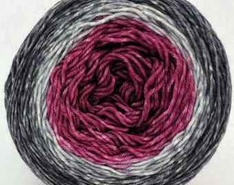 What Happens at Knit Night Panoramic Gradient, dyed to order - pick your yarn and yardage!
