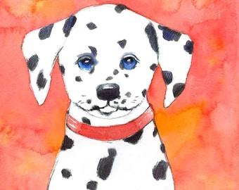 Dalmatian Art Print - Kids Dalmatian Art Print - Children's Dog Print - Puppy Dog Wall Art - Year of the Dog