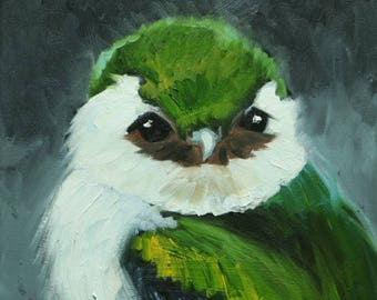 Bird painting 288 Swallow 12x12 inch portrait original oil painting by Roz