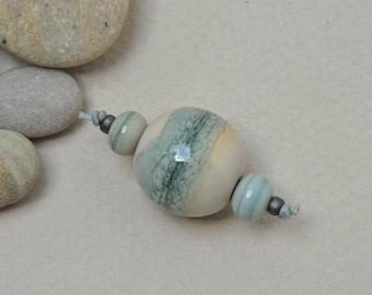 River Rock solo - Artisan lampwork beads by Loupiac