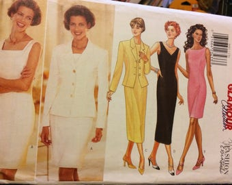 Uncut Butterick 4441 Fast and Easy Misses' Dresses Sewing Pattern Size 12-16 Bust 34-38 inches Complete Uncut