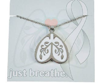 Lung Cancer Awareness Necklace with Card