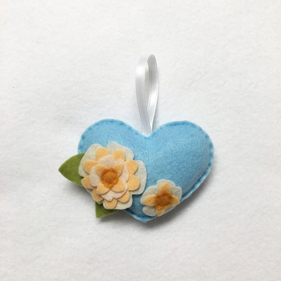 Flower Heart Ornament, Flower Ornament, Christmas Ornament, Anniversary Gift, Wedding Decoration, Unique Gift