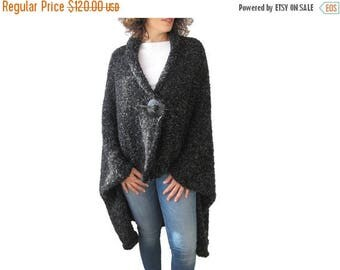 50% CLEARENCE Boucle Hand Knitted Poncho - Pelerine - Cape