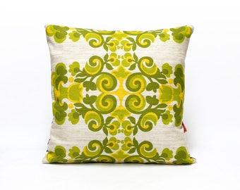 Green Cushion Cover, retro pillow, throw pillow, pillow case, designer couch cushion, sofa throw, handmade modern home decor by EllaOsix
