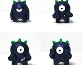 Timid Monster Photo/Travel set of four -- Dark Blue