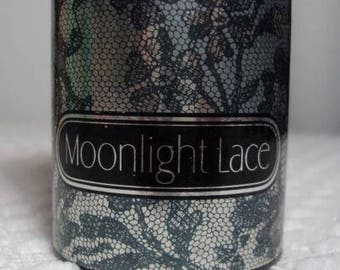 Vintage Avon 80s Moonlight Lace Collectible Display Shimmering Perfumed Talc Powder