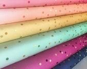 Ombre Confetti fabric by Vanessa Christenson, Gold Metallic Decor, Wedding fabric, Quilting, C Bundle of 6 fabrics, Choose the Cuts
