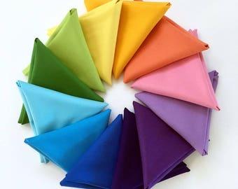 Jaybird Quilts, Kona Solid Fat Quarter Bundle, Cookie Cutter Quilt fabric, Jaybird Quilts, Quilting Fabric, Bundle of 12