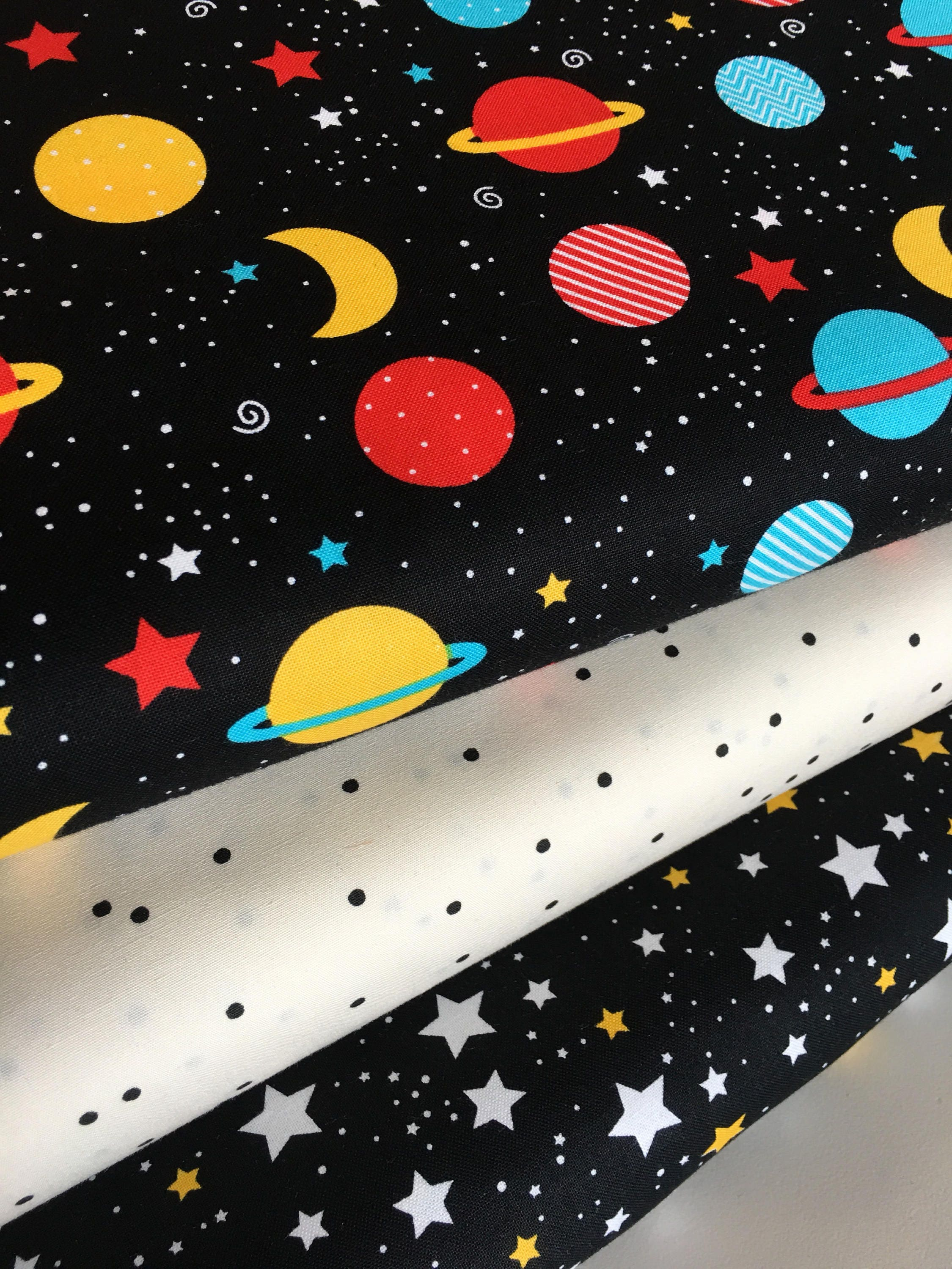 Space adventure fabric star fabric planet fabric for Space fabric