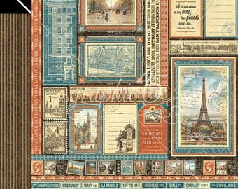 ON SALE Graphic 45 Cityscapes Global Odyssey Scrapbook Paper