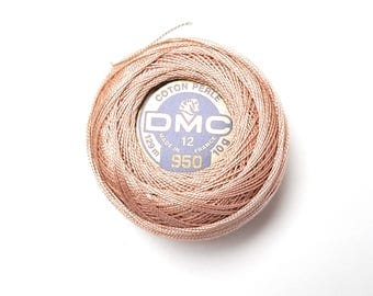 DMC 950 Light Desert Sand Size 12 Perle Cotton Thread