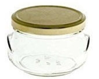 1 pc 6.75 oz Glass Tureen Jars - FREE EXPEDITED SHIPPING