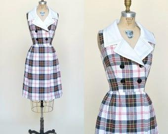 20% OFF 1960s Dress --- Vintage Plaid Toni Todd Dress