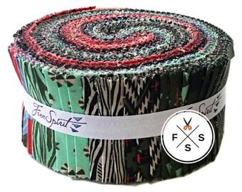 "Tula Pink HOLIDAY HOMIES Design Roll 2.5"" Precut Fabric Quilting Cotton Strips Free Spirit FB3DRTP.12017"