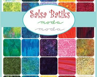 "Moda Salsa Batiks Layer Cake 10"" Precut Fabric Quilting Cotton Squares 4345LC"