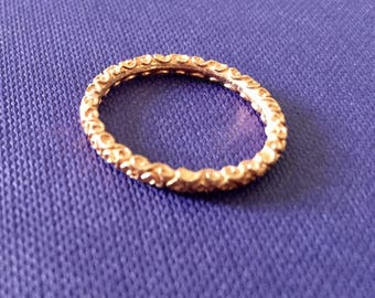 Filigree stack ring in Rose gold sz 6.25