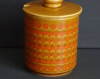 Hornsea Pottery Jam Jar Condiment Jar Pottery Jar with Lid Made in  England