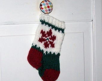Christmas ornament knit stocking