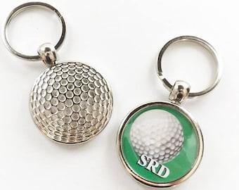 Golf Ball Keychain Sports Gift for him men initials custom personalized retirement dad grandpa husband  boyfriend coworker stocking stuffer