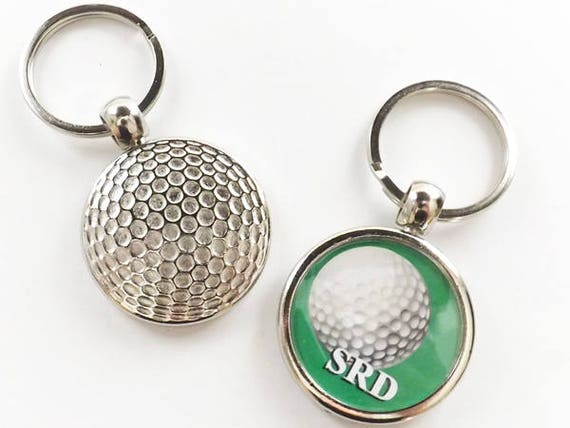 Golf Ball Keychain Sports Gift, initials, custom personalized logo photo available, retirement dad grandpa grandma husband for him boyfriend
