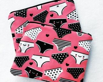 Kawaii Underwear Zipper Pouch - Coin Purse