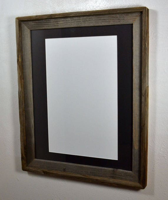 Rustic Wood Frame 11 Quot X17 Quot Black Mat 20 Mat Colors Fits An