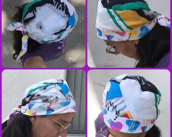 NKOTB Scrub Chemo Head Scarf Hat Custom Order