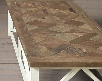 "ON SALE Parquet X Driftwood Dining Table (60"" x 30"" x 30"" H) Custom Request, new pictures soon"