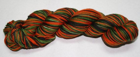 Ready to Ship - Vintage Halloween Self Striping Hand Dyed Sock Yarn - Sport Sock