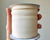 "1/4"" Cotton Ribbon, Natural Cotton twill tape, EXTRA FINE herringbone tape or grosgrain tape / fine sewing tape / raw ribbon"