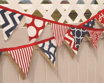July Banner, Patriotic Bunting, photo Prop, Star Banner