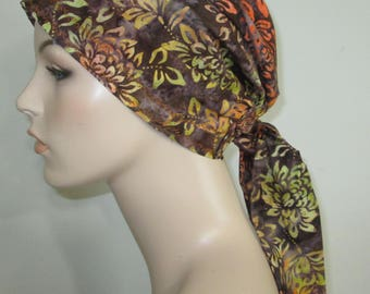 Mums Print  Chemo Scarf, Hat, Cancer Hat, Hijab, Alopecia