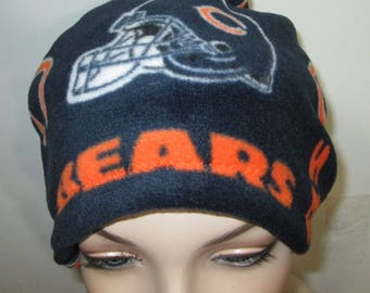 Chicago Bears  Anti Pill Fleece Hat, Winter Hat, Cancer, Chemo Hat, Alopecia