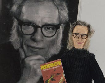 Isaac Asimov Doll Miniature Art Science Fiction Writer