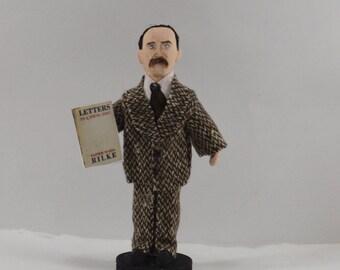 Rainer Maria Rilke Poet Doll Literary Art Handmade Figurine Collectible