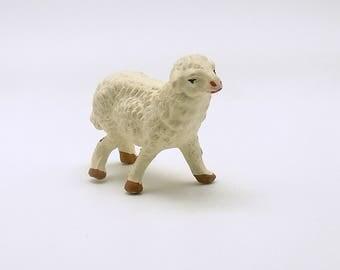 Vintage Lamb Figurine Sheep AS IS + Vintage Hankie RESERVED for boys club books