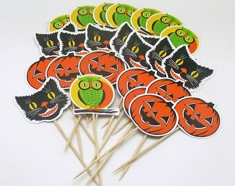 Halloween Picks Pumpkins Cake Decoration Halloween Party Decoration