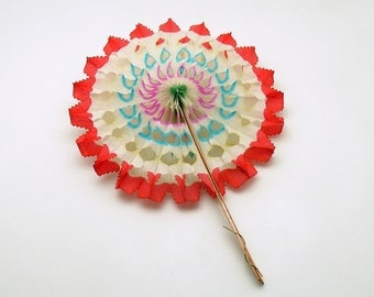 Vintage 4th of July Decoration Honeycomb Pinwheel Patriotic Red White Blue Independence Day Parade Party Favor