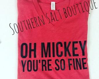 Oh Mickey You're So Fine Adult Disney T Shirt - Mouse Shirt  - Disney Shirt
