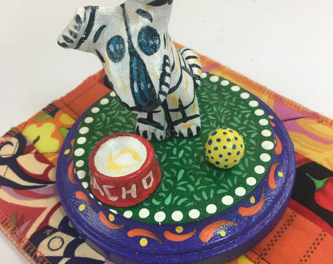 Day of the Dead Dog Sculpture